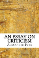 critical essays on alexander pope